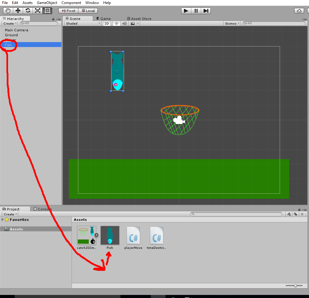 Unity3D: 2D Catch Game (tutorial for beginers)  Part 1