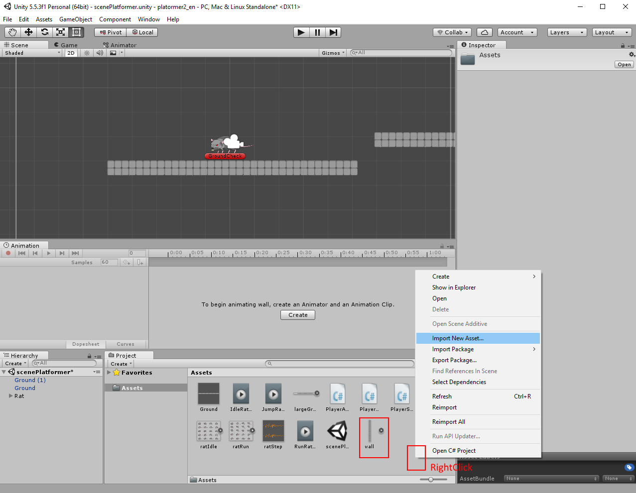Unity: 2D platform game (tutorial for beginers)  Part 2